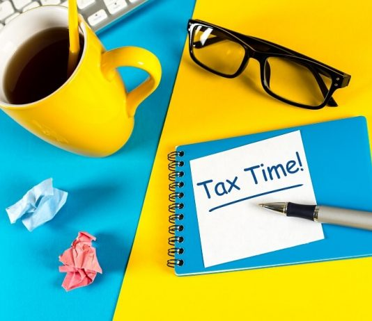 Tax Time bicolor hero image