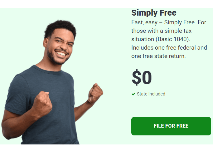 TaxSlayer Simply Free ad