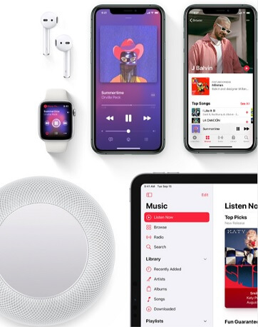 Apple Music on different devices