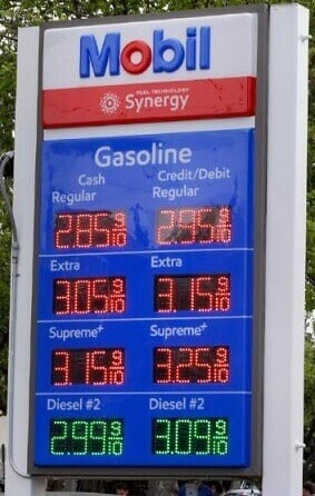 Gas prices for cash vs credit