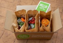 HelloFresh box opened on ground hero image