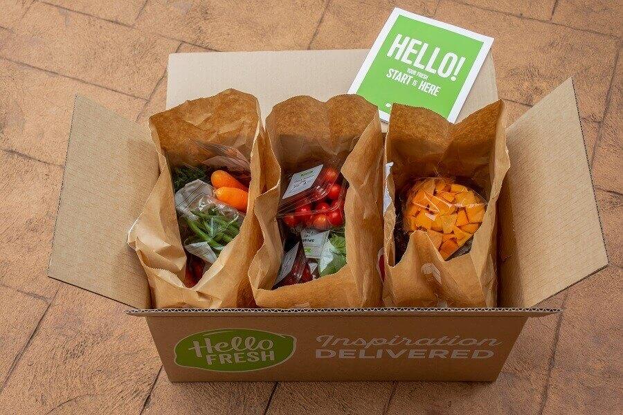 HelloFresh box opened on ground hero image