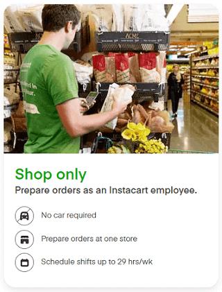 Instacart in-store shopper overview