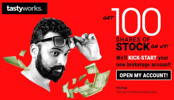 tastyworks 100 free stocks promo