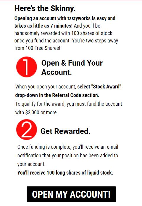 tastyworks - how to get free stocks