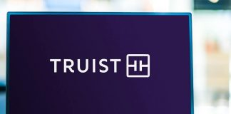Truist Bank logo on laptop hero image