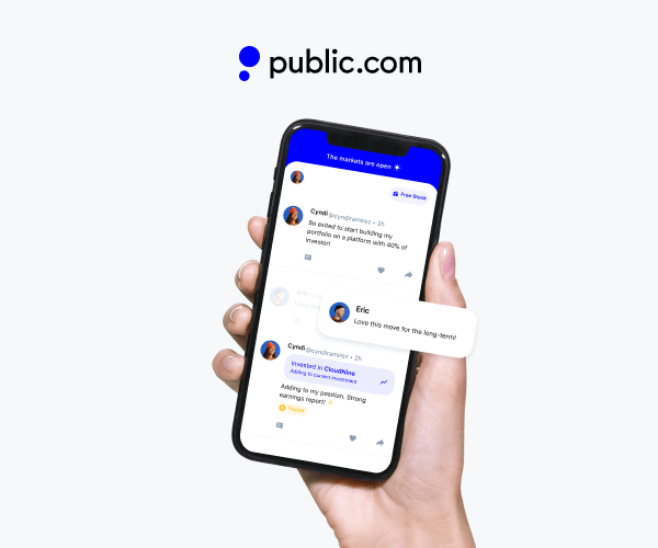 Public app stock messaging