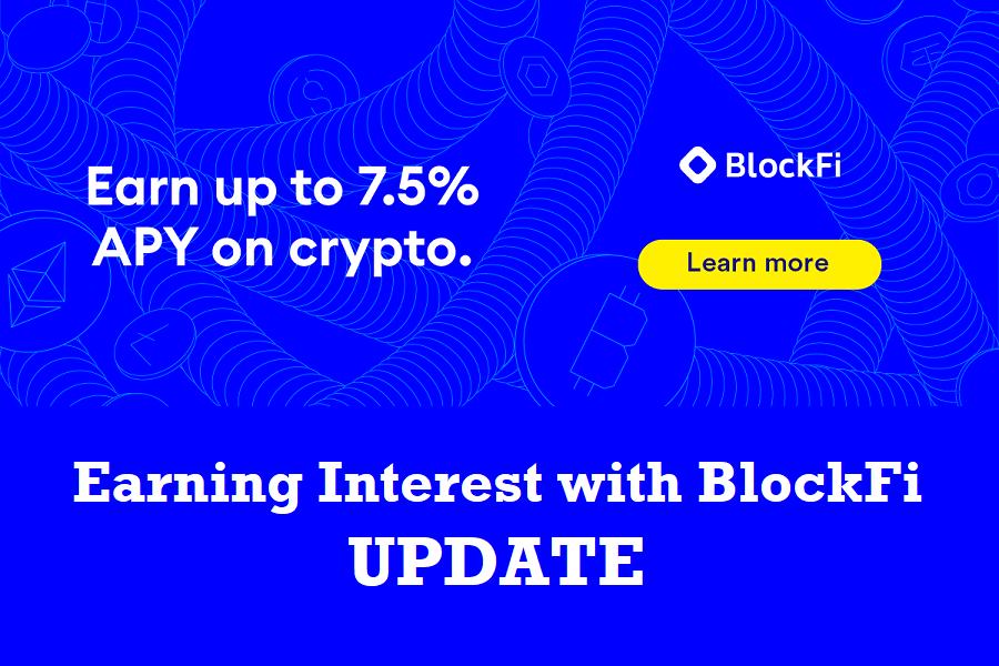 Earning interest with BlockFi hero image